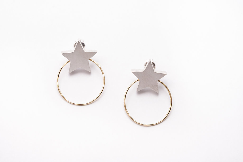 Star earrings/pendientes Estrella